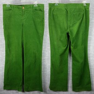 Lilly Pulitzer Green Cords Pants 14 Palm Beach Fit